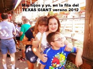 Nerviosos de subirnos al Texas Giant