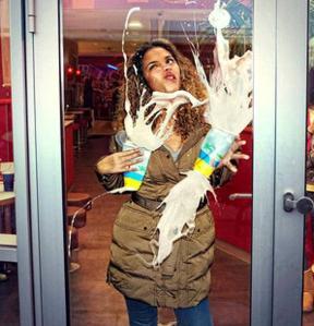 A Girl Walking Into A Glass Door